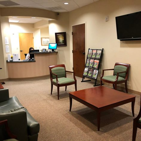 Dental Office Reception Area - Brier Creek Family Dentistry Raleigh, NC 27617